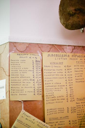 Butcher Shop in Cortona Italy