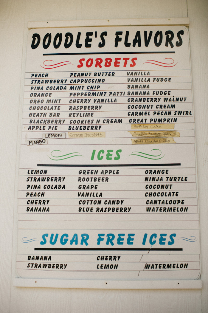 Doodles Sorbets and Ices