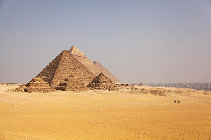 the pyramids of giza and the