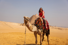 Riding a Camel in Egypt
