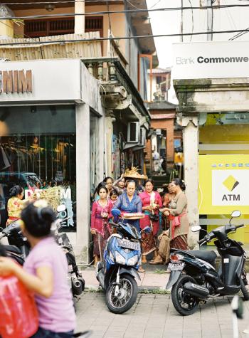 Ubud Bali Street Scene