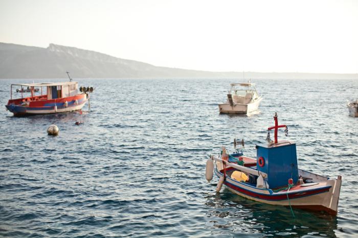 Boats in Amoudi Bay
