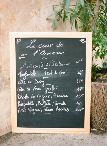 Cafe in Lourmarin