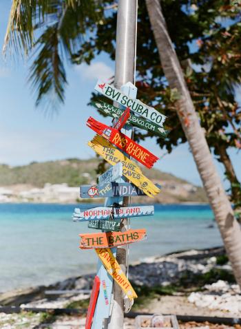Colorful Caribbean Signage