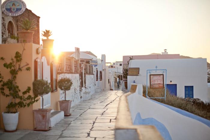 Morning in Oia Santorini