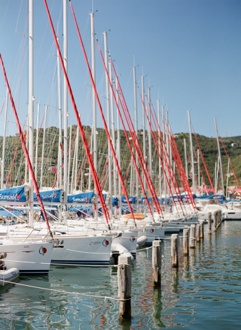 Sailboats in the British Virgin Islands