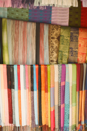 Silk in Chiang Mai Sunday Market