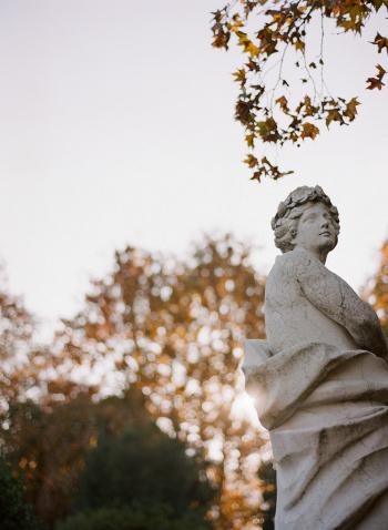 Statue in Lake Como