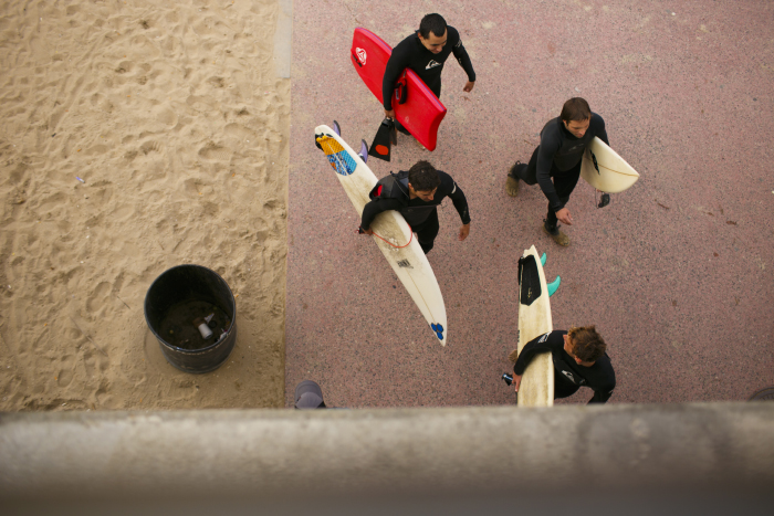 Surfers in Huntington Beach