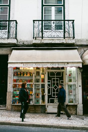 Vintage Bookstore in Lisbon