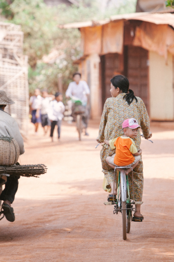 Baby on Bicycle Cambodia