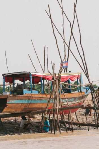 Boat on Stilts Lake Tonle Sap