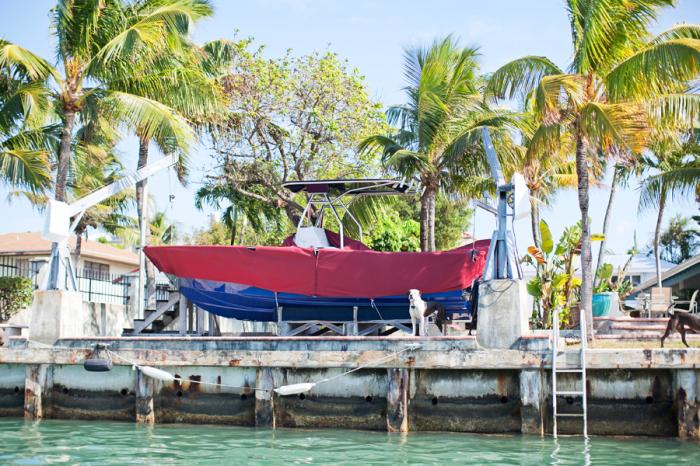 Docked Boat in Key West
