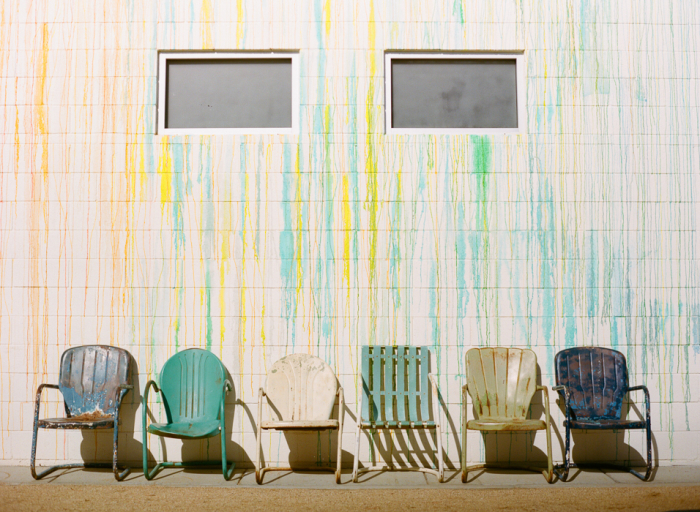 Drip Painted Chairs at the Ace Hotel Palm Springs