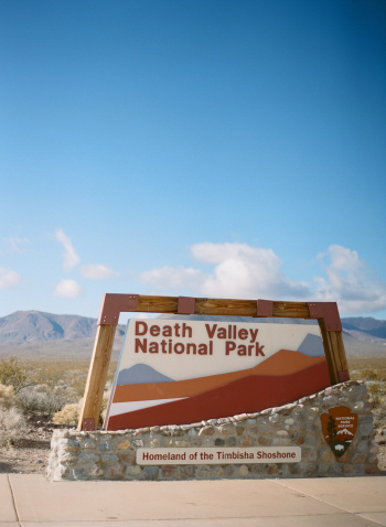 Entrance to Death Valley National Park