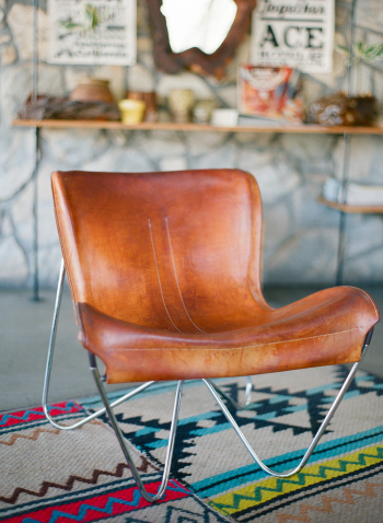 Leather Chair in the Ace Hotel Lobby