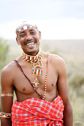 Maasai Man Headdress