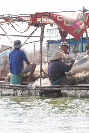 Merchants Tonle Sap Lake