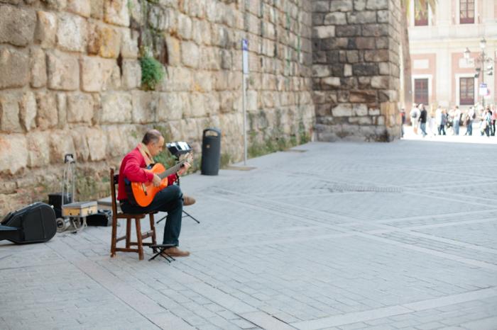 Musician in Sevilla