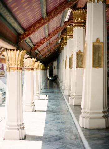 Pillars at Grand Palace in Bangkok