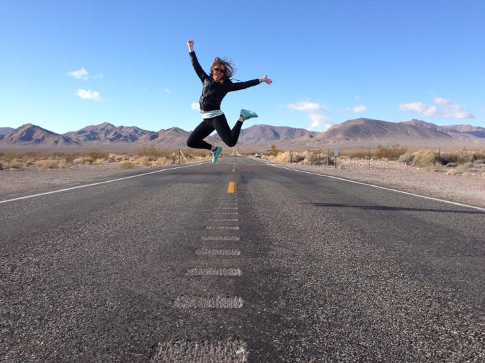 Road Jump in the Mojave Desert