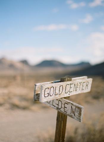 Road Sign in Rhyolite Nevada