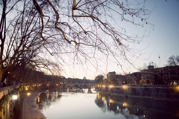 Rome Tiber River Evening