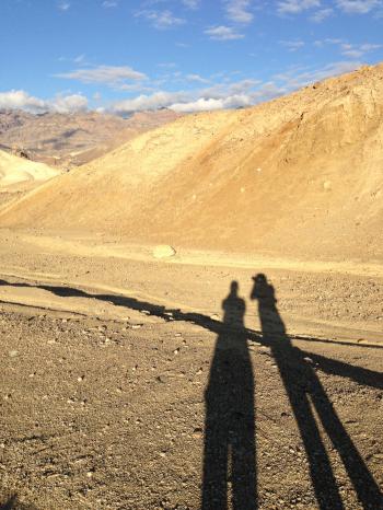 Shadow Portrait in the Mojave Desert