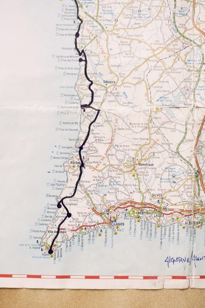 Southwestern Portugal Coastline Map Entouriste - Portugal map south