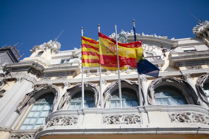 Spanish Flag Barcelona