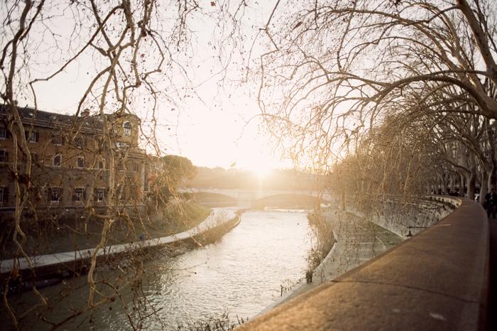 Sunset Tiber River
