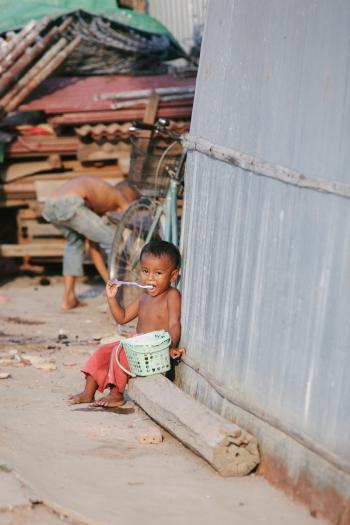 Toddler in Cambodia