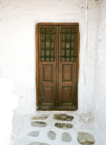 Wooden Door Mykonos