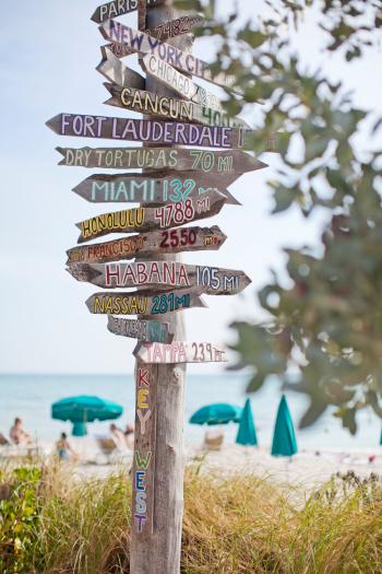 Zachary Beach Signs of Key West