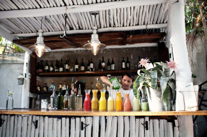Bar at Hartwood Restaurant in Tulum