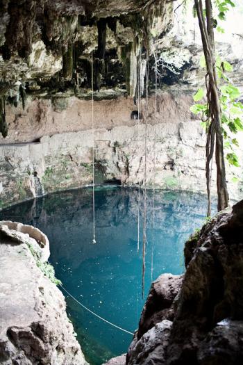 Blue Caves in Cenote Zaci in Valladolid