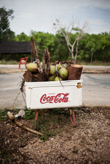 Coca Cola Cart in Tulum