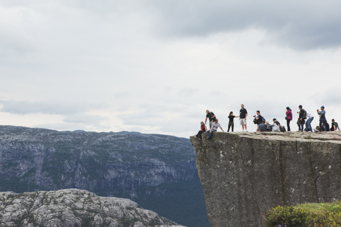 Epic Cliffs in Stavanger Norway