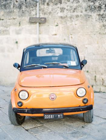 Fiat in Sassi Caves Italy