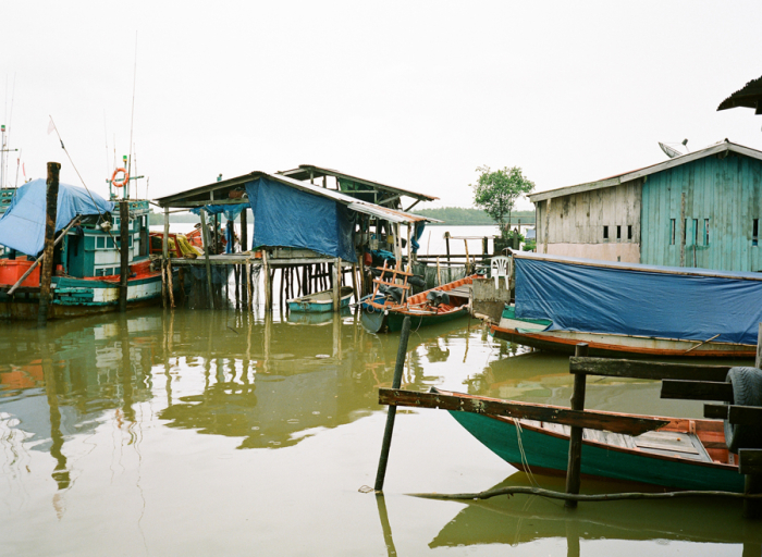 Floating Homes in Koh Sralao
