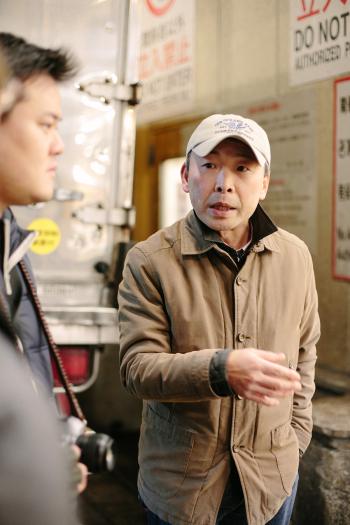 Guide at Tsukiji Fish Market in Tokyo