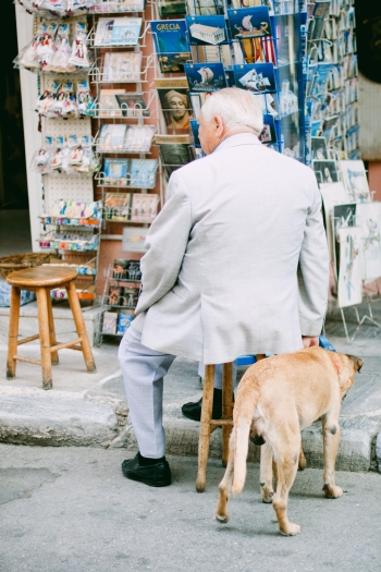 Man and Dog in Athens