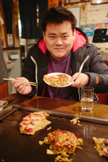 Okonomiyaki of Osaka Japan