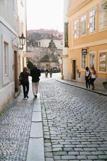 Old Town Prague Tourists