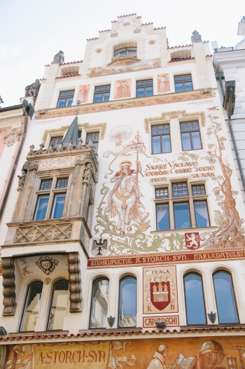 Painted Building in Prague