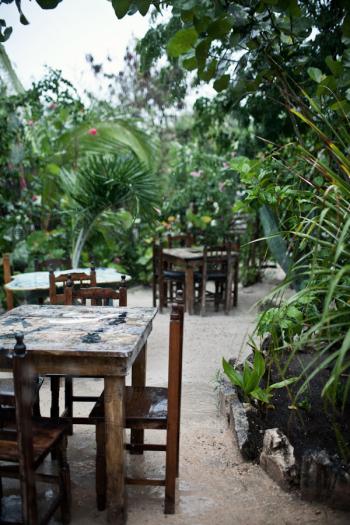 Seating at El Tabano Restaurant in Tulum