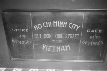 Sign at Lusine Restaurant in Ho Chi Minh