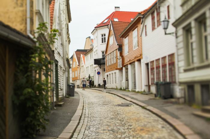 Streets of Bergen Norway