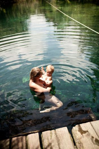Swimming in Tulum
