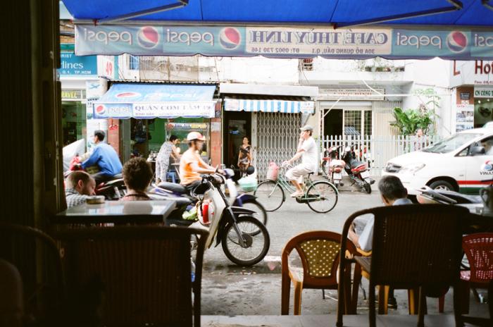 Traffic in Ho Chi Minh Vietnam